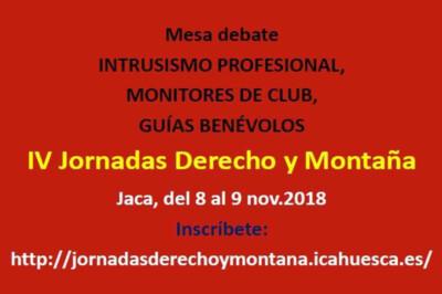 IV Jornadas Derecho y Monataña-Jaca