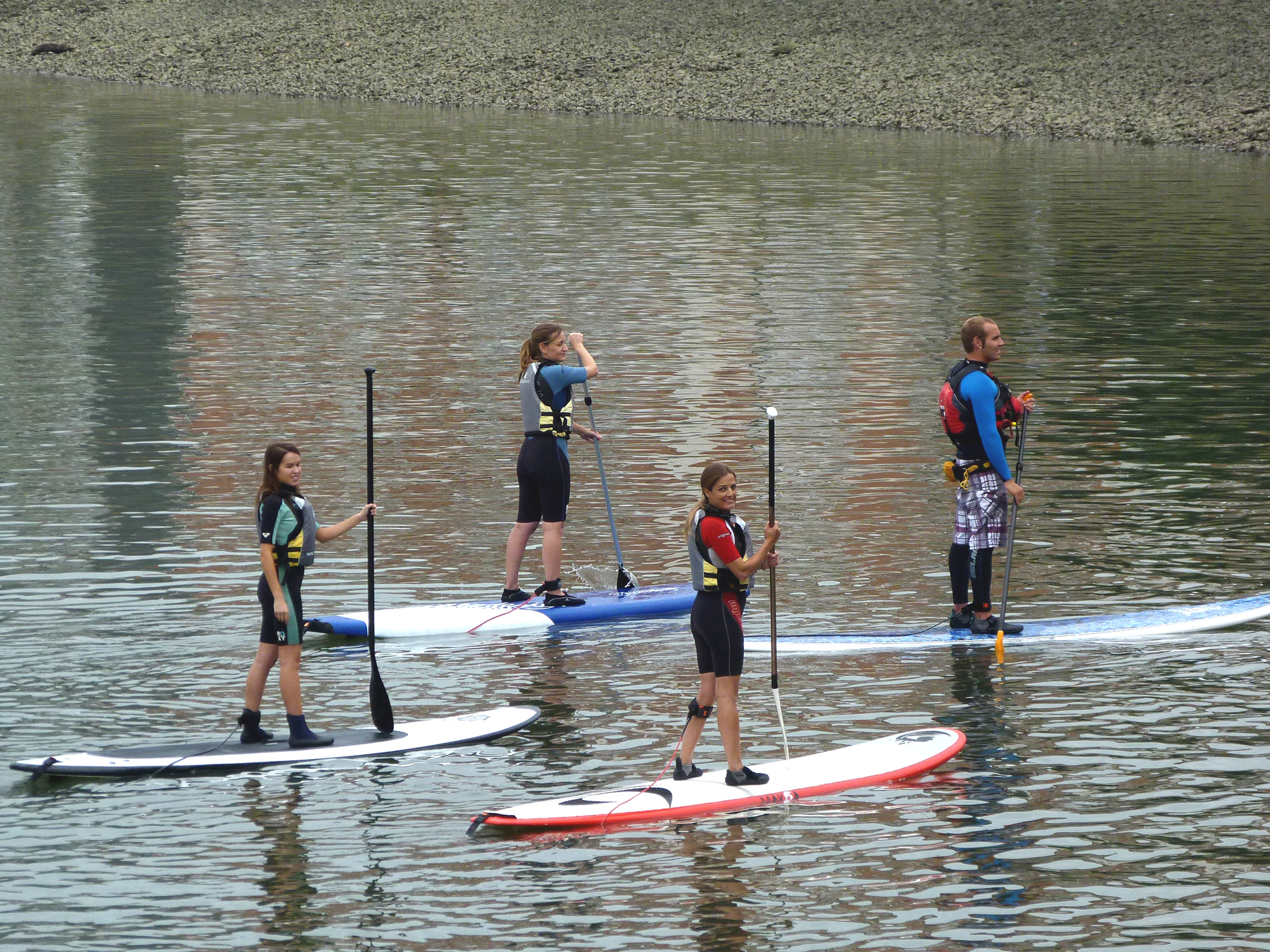 Stand up paddle sup ría de Bilbao